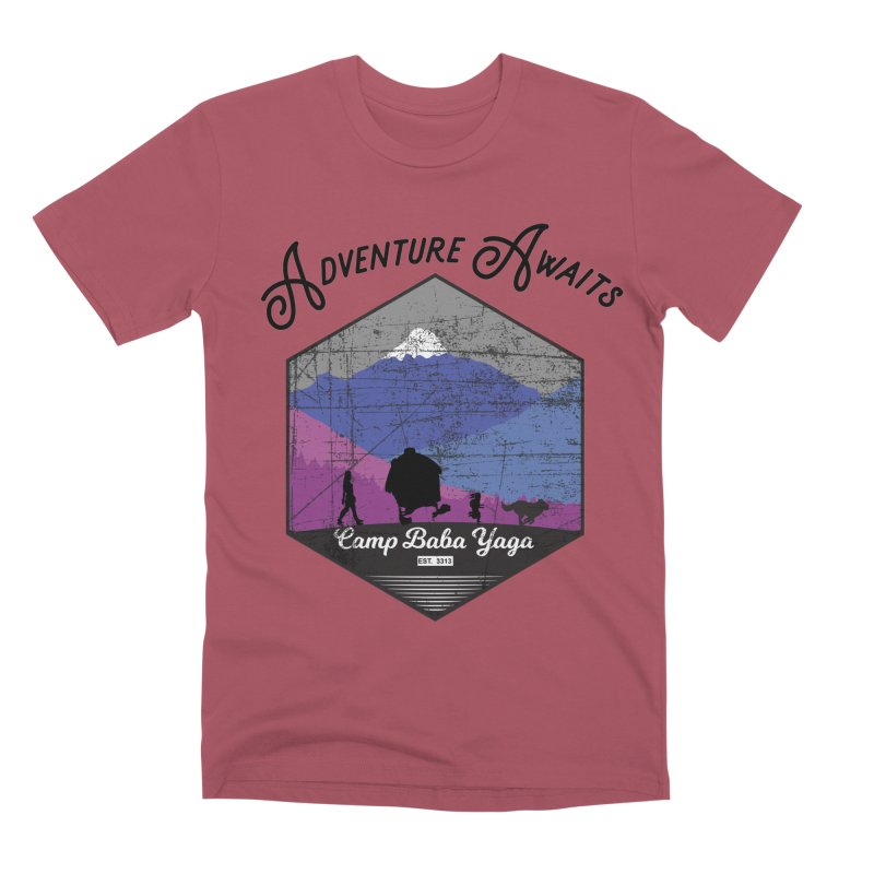 Adventure Awaits - Camp Baba Yaga - Winter Witch Edition Men's Premium T-Shirt by Fantastic Worlds Podcast  Shop