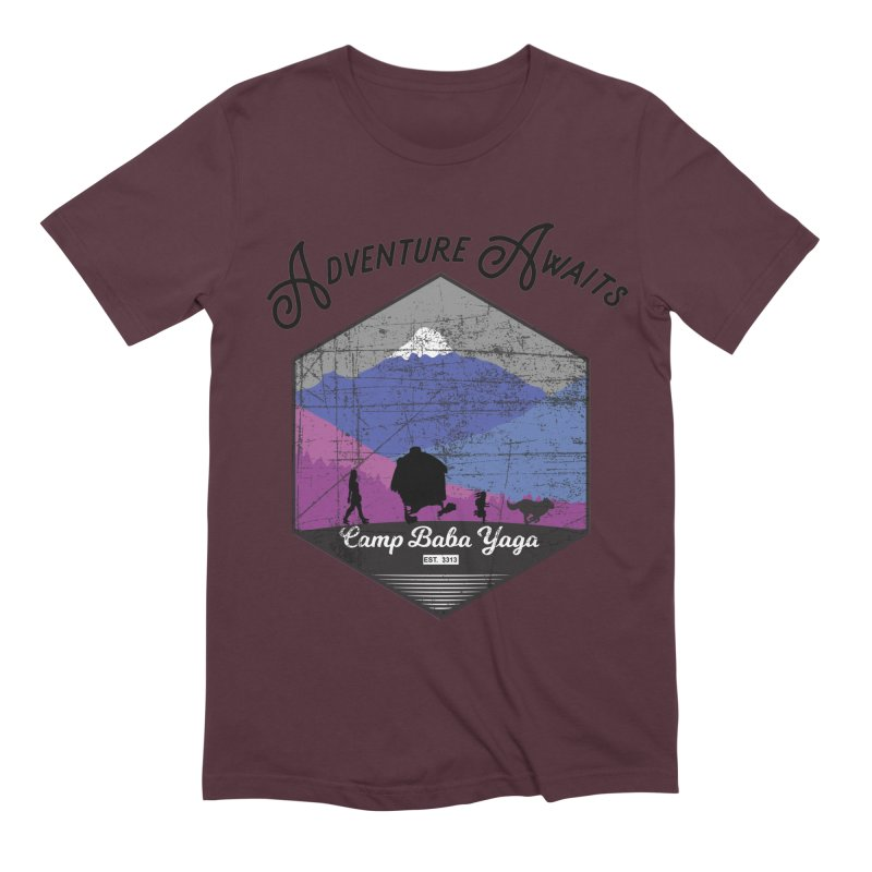 Adventure Awaits - Camp Baba Yaga - Winter Witch Edition Men's Extra Soft T-Shirt by Fantastic Worlds Podcast  Shop