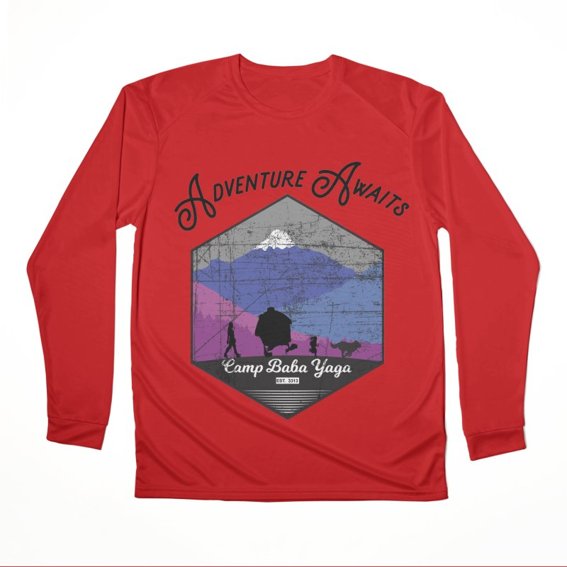 Adventure Awaits - Camp Baba Yaga - Winter Witch Edition Men's Performance Longsleeve T-Shirt by Fantastic Worlds Podcast  Shop