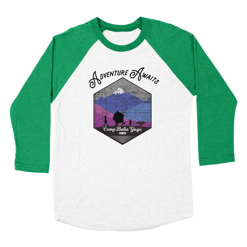 Adventure Awaits - Camp Baba Yaga - Winter Witch Edition Men's Baseball Triblend Longsleeve T-Shirt by Fantastic Worlds Podcast  Shop