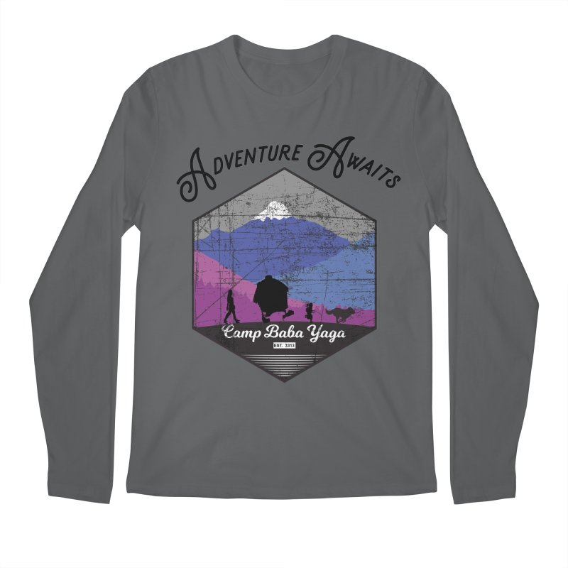 Adventure Awaits - Camp Baba Yaga - Winter Witch Edition Men's Regular Longsleeve T-Shirt by Fantastic Worlds Podcast  Shop