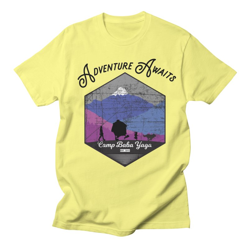 Adventure Awaits - Camp Baba Yaga - Winter Witch Edition Men's Regular T-Shirt by Fantastic Worlds Podcast  Shop