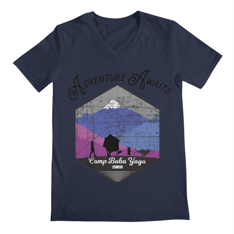 Adventure Awaits - Camp Baba Yaga - Winter Witch Edition Men's Regular V-Neck by Fantastic Worlds Podcast  Shop