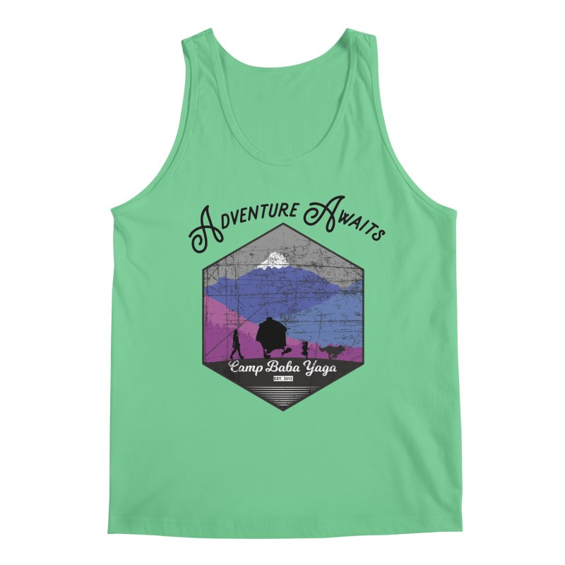Adventure Awaits - Camp Baba Yaga - Winter Witch Edition Men's Regular Tank by Fantastic Worlds Podcast  Shop