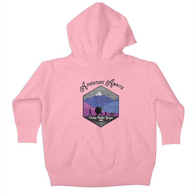 Adventure Awaits - Camp Baba Yaga - Winter Witch Edition Kids Baby Zip-Up Hoody by Fantastic Worlds Podcast  Shop