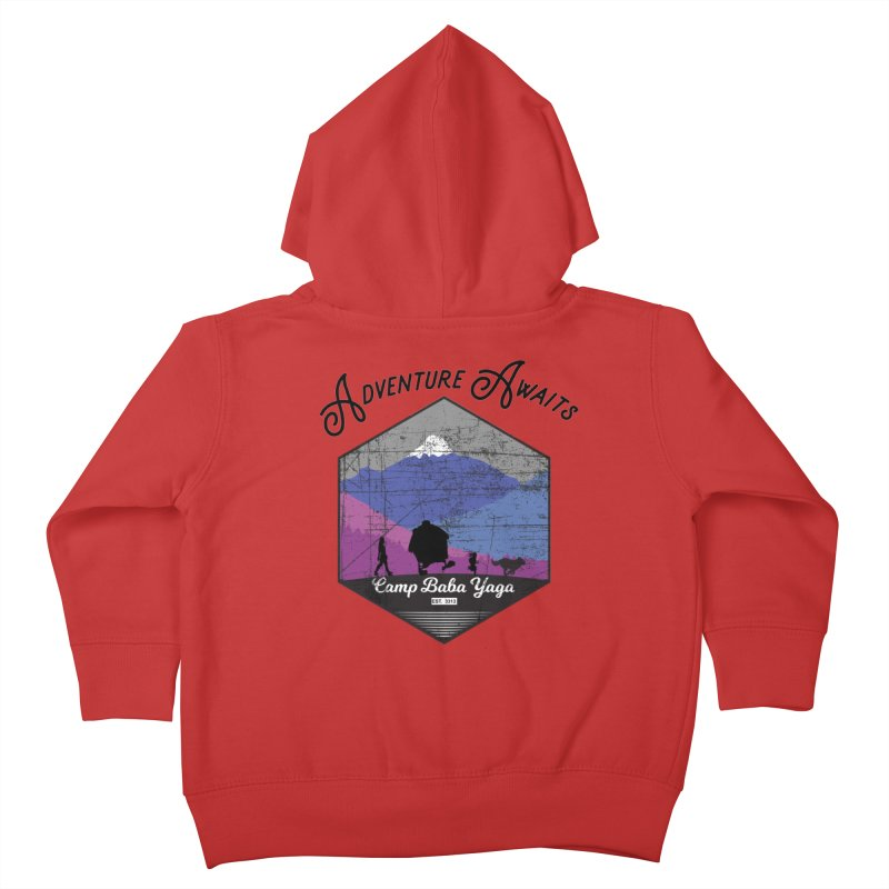 Adventure Awaits - Camp Baba Yaga - Winter Witch Edition Kids Toddler Zip-Up Hoody by Fantastic Worlds Podcast  Shop