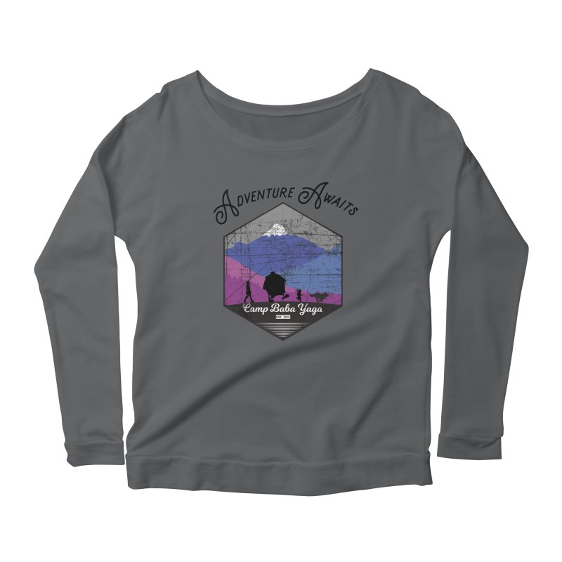 Adventure Awaits - Camp Baba Yaga - Winter Witch Edition Women's Scoop Neck Longsleeve T-Shirt by Fantastic Worlds Podcast  Shop
