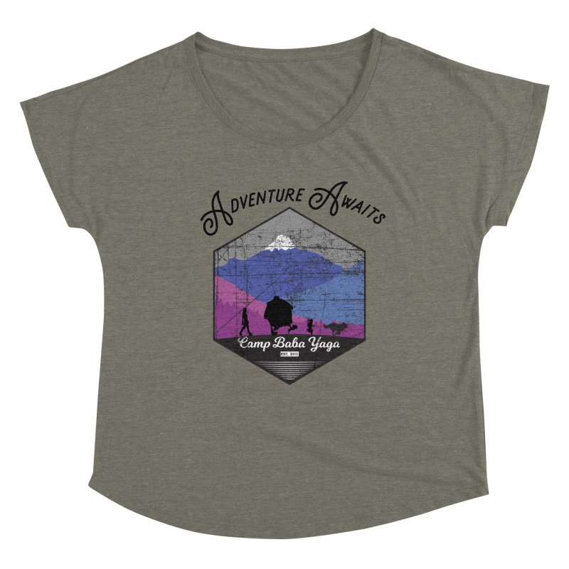 Adventure Awaits - Camp Baba Yaga - Winter Witch Edition Women's Dolman Scoop Neck by Fantastic Worlds Podcast  Shop