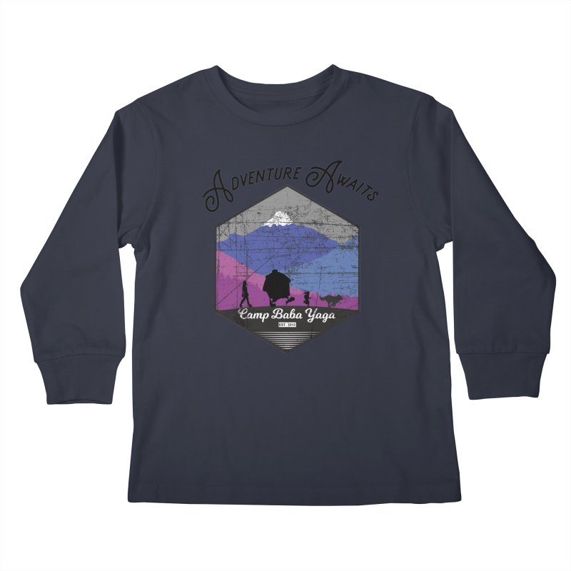 Adventure Awaits - Camp Baba Yaga - Winter Witch Edition Kids Longsleeve T-Shirt by Fantastic Worlds Podcast  Shop