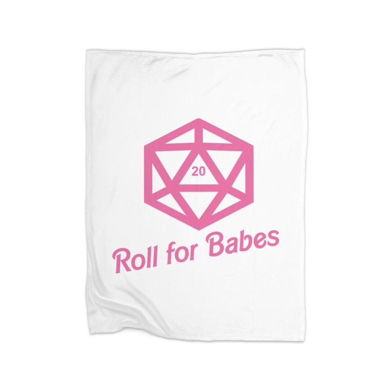 Roll for Babes Home Fleece Blanket Blanket by fantastic worlds pod's Artist Shop