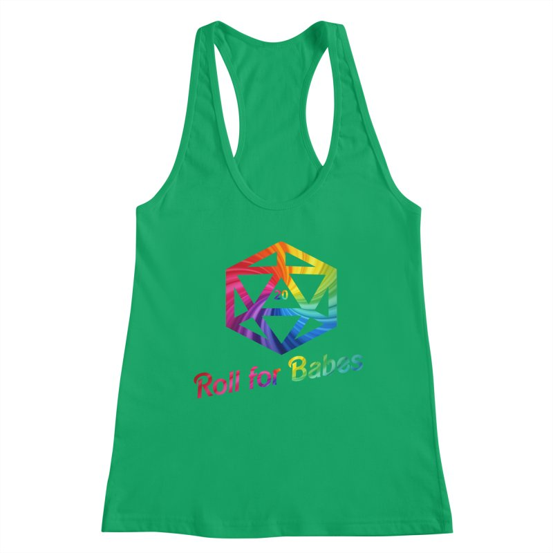Roll for Babes - Rainbow Women's Tank by Fantastic Worlds Podcast  Shop