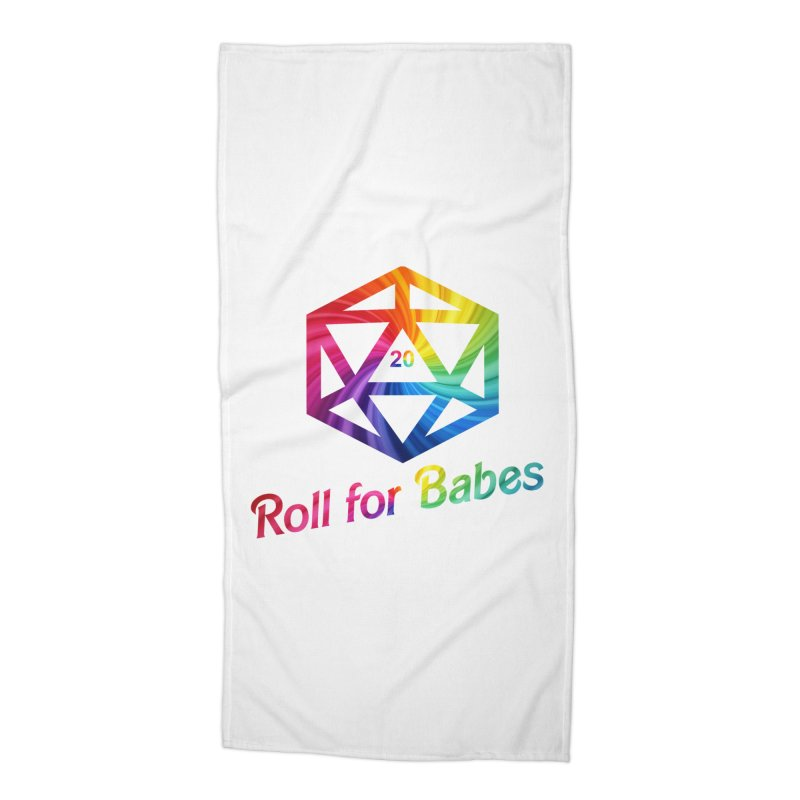 Roll for Babes - Rainbow Accessories Beach Towel by fantasticworldspod's Artist Shop