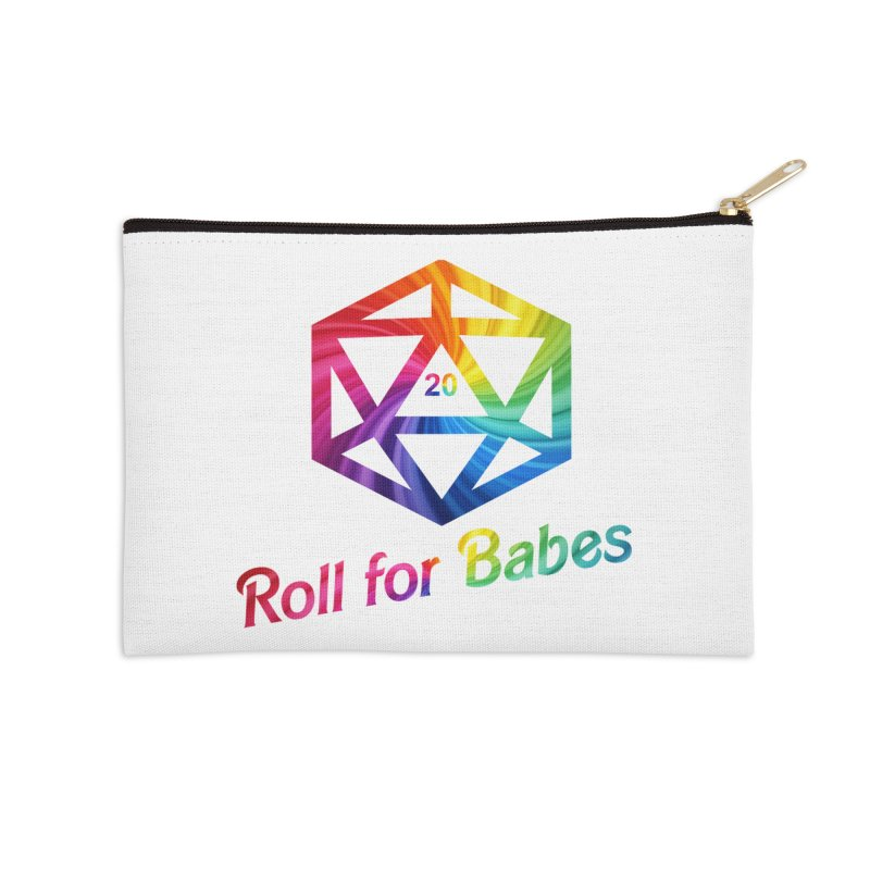 Roll for Babes - Rainbow Accessories Zip Pouch by fantasticworldspod's Artist Shop