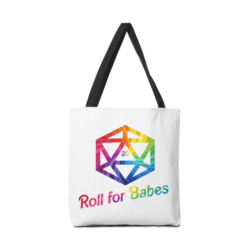 Roll for Babes - Rainbow Accessories Tote Bag Bag by fantastic worlds pod's Artist Shop