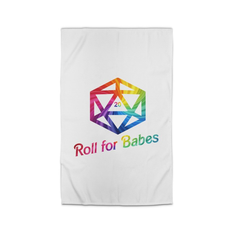 Roll for Babes - Rainbow Home Rug by Fantastic Worlds Podcast  Shop