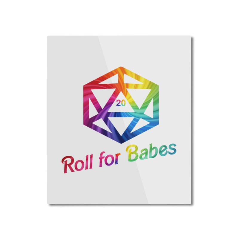 Roll for Babes - Rainbow Home Mounted Aluminum Print by fantastic worlds pod's Artist Shop