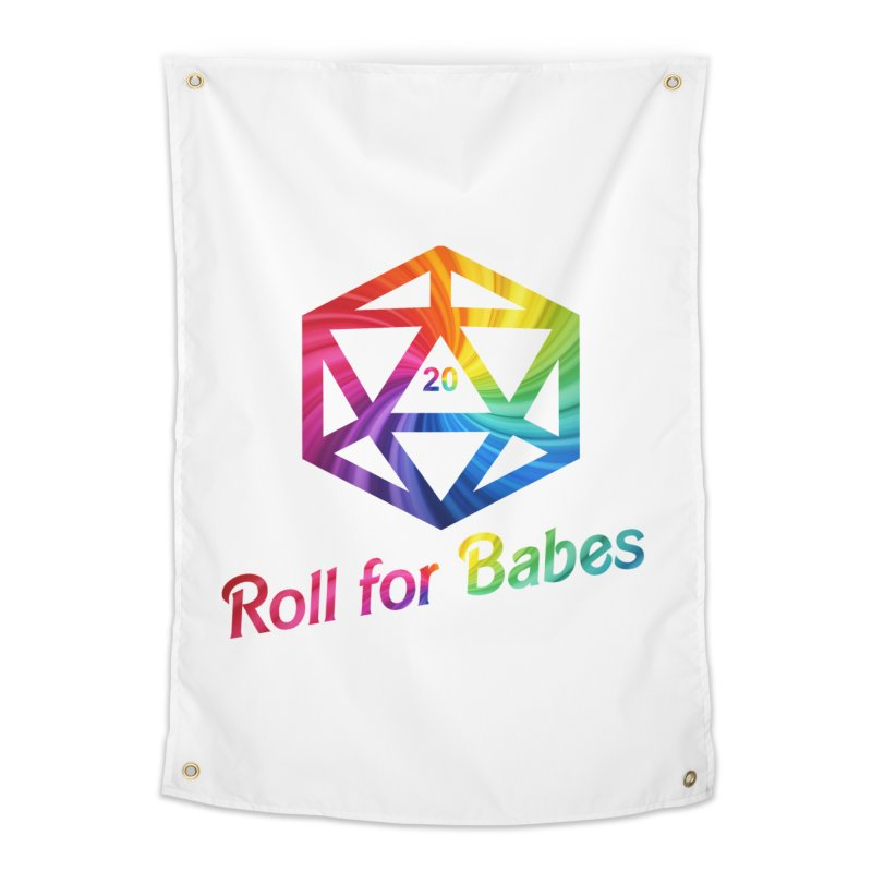 Roll for Babes - Rainbow Home Tapestry by fantasticworldspod's Artist Shop