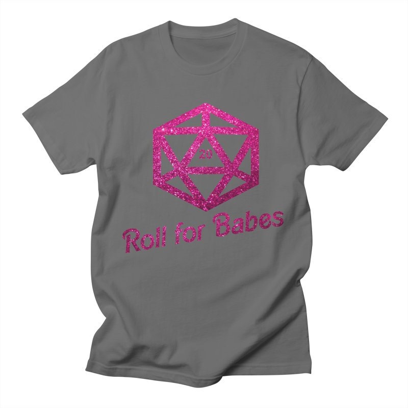 Roll for Babes - Glitter Men's T-Shirt by Fantastic Worlds Podcast  Shop