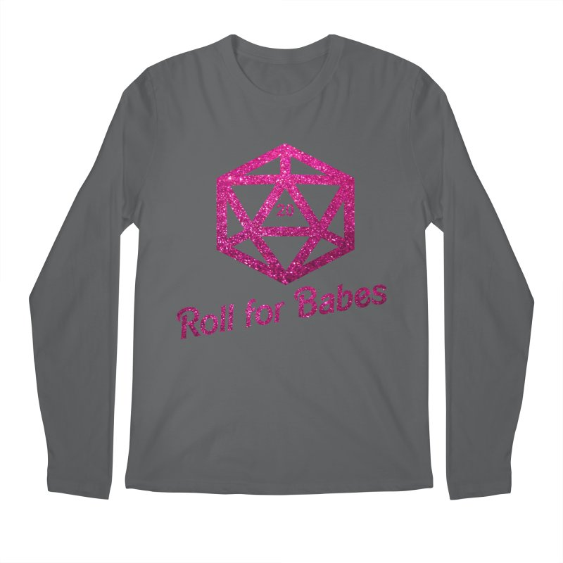 Roll for Babes - Glitter Men's Longsleeve T-Shirt by Fantastic Worlds Podcast  Shop