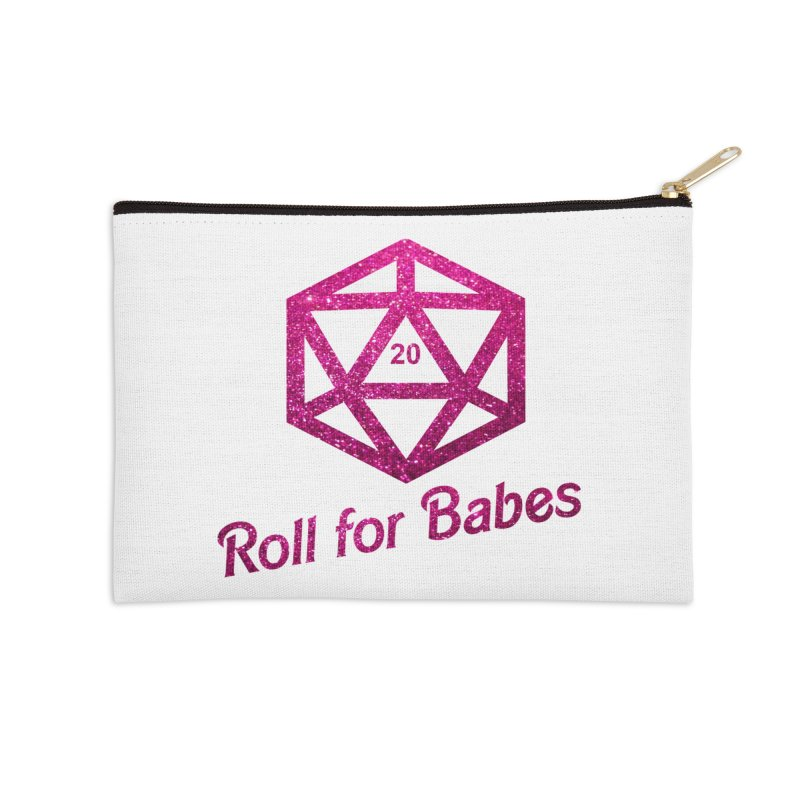 Roll for Babes - Glitter Accessories Zip Pouch by fantasticworldspod's Artist Shop