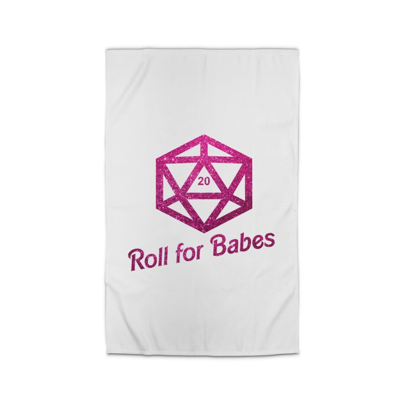 Roll for Babes - Glitter Home Rug by Fantastic Worlds Podcast  Shop