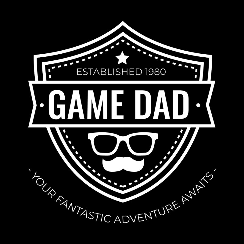 Game Dad - White Logo by fantastic worlds pod's Artist Shop