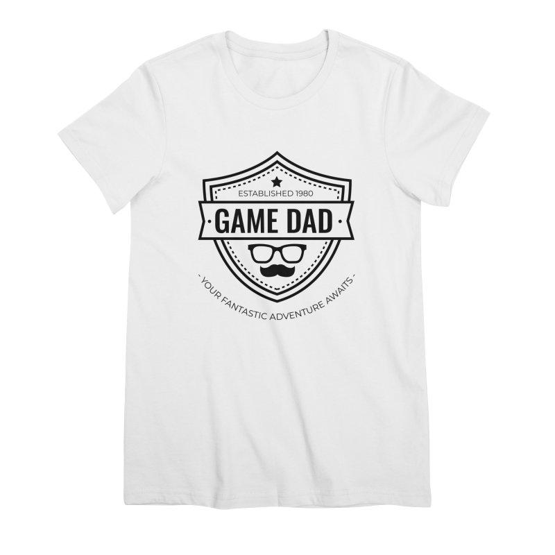 Game Dad - Black Women's T-Shirt by fantastic worlds pod's Artist Shop