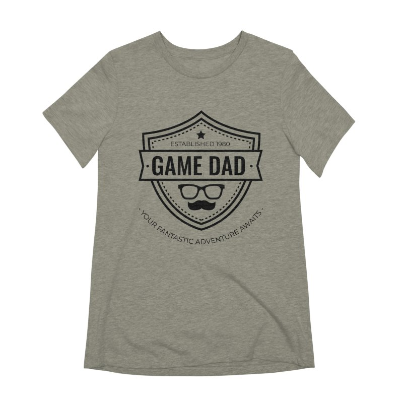 Game Dad - Black Women's Extra Soft T-Shirt by fantastic worlds pod's Artist Shop