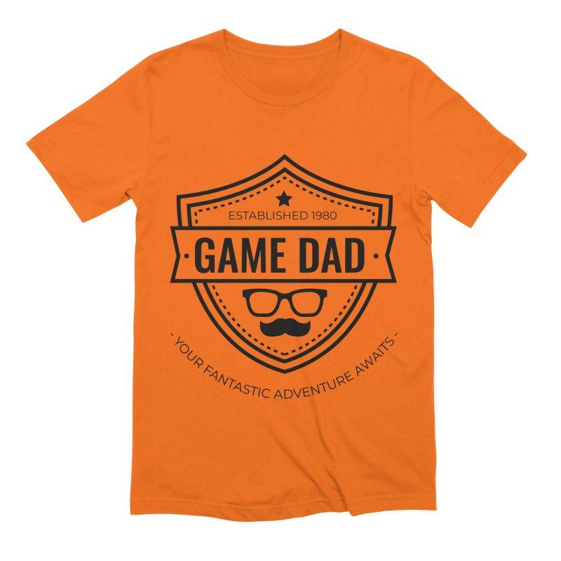 Game Dad - Black Men's Extra Soft T-Shirt by fantastic worlds pod's Artist Shop