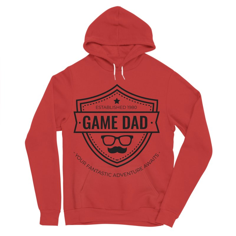 Game Dad - Black Men's Sponge Fleece Pullover Hoody by fantasticworldspod's Artist Shop