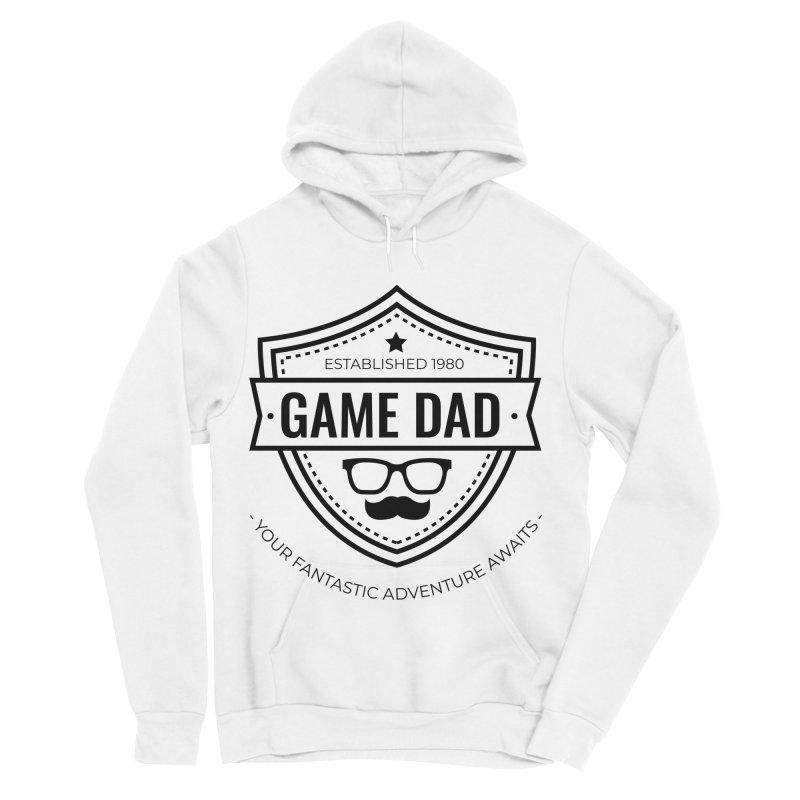 Game Dad - Black Men's Sponge Fleece Pullover Hoody by fantastic worlds pod's Artist Shop