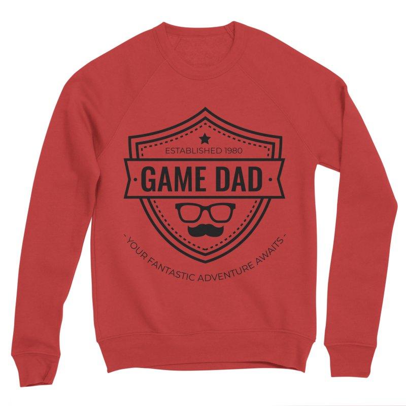 Game Dad - Black Men's Sponge Fleece Sweatshirt by fantastic worlds pod's Artist Shop