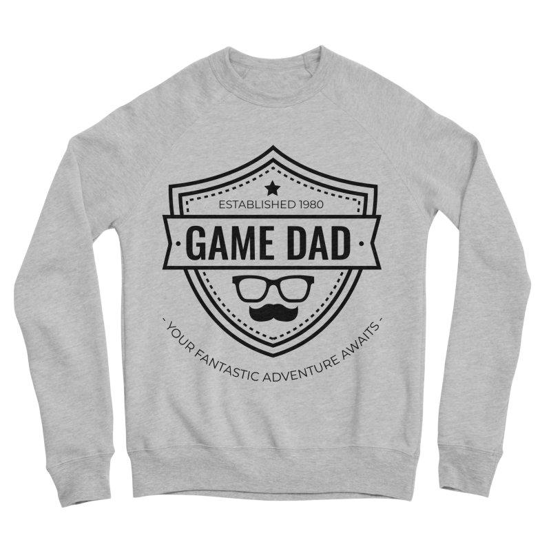 Game Dad - Black Men's Sponge Fleece Sweatshirt by fantasticworldspod's Artist Shop