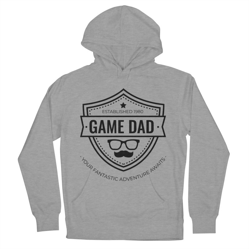 Game Dad - Black Women's French Terry Pullover Hoody by fantastic worlds pod's Artist Shop