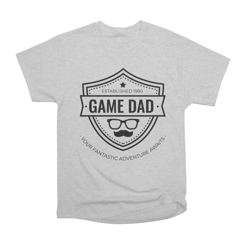 Game Dad - Black Men's Heavyweight T-Shirt by fantastic worlds pod's Artist Shop