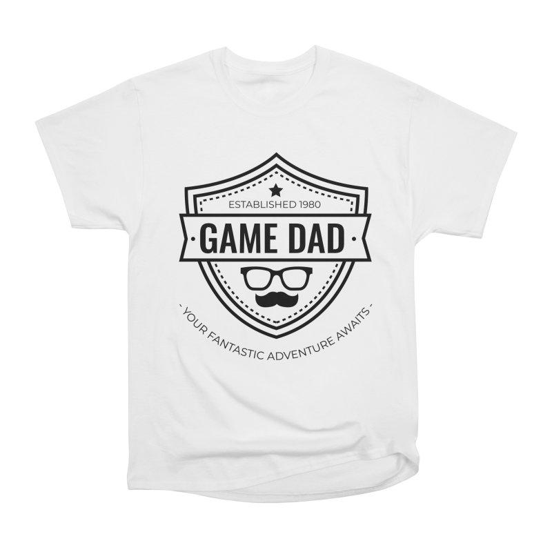 Game Dad - Black Women's Heavyweight Unisex T-Shirt by fantastic worlds pod's Artist Shop