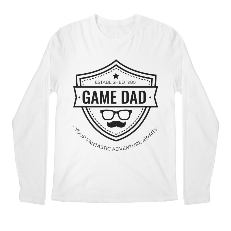 Game Dad - Black Men's Regular Longsleeve T-Shirt by fantastic worlds pod's Artist Shop