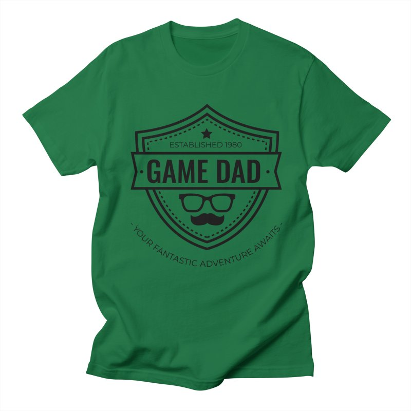 Game Dad - Black Men's T-Shirt by Fantastic Worlds Podcast  Shop