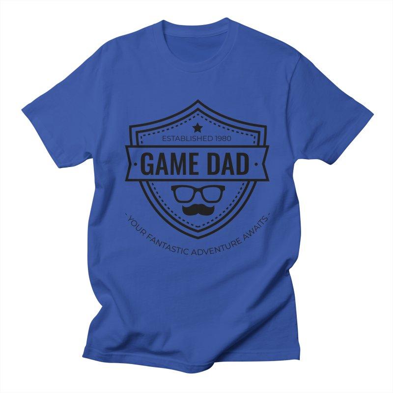 Game Dad - Black Men's Regular T-Shirt by fantasticworldspod's Artist Shop