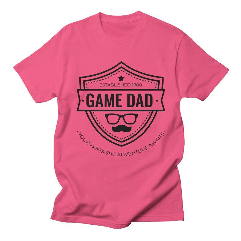 Game Dad - Black Women's Regular Unisex T-Shirt by fantasticworldspod's Artist Shop