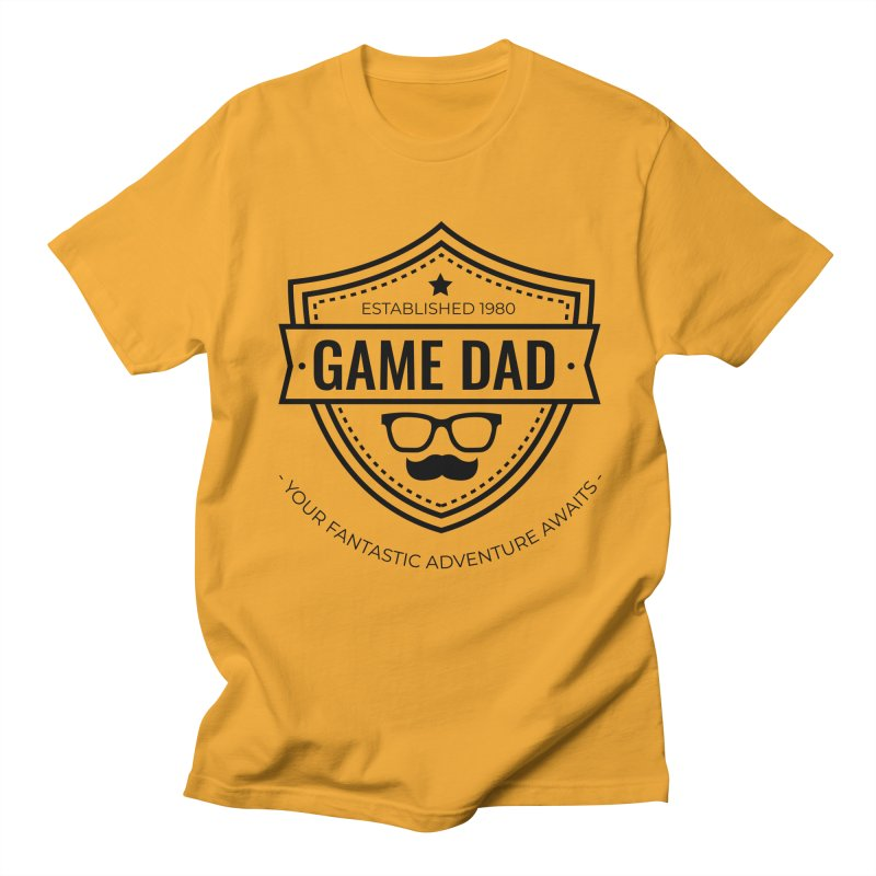 Game Dad - Black Men's Regular T-Shirt by fantastic worlds pod's Artist Shop