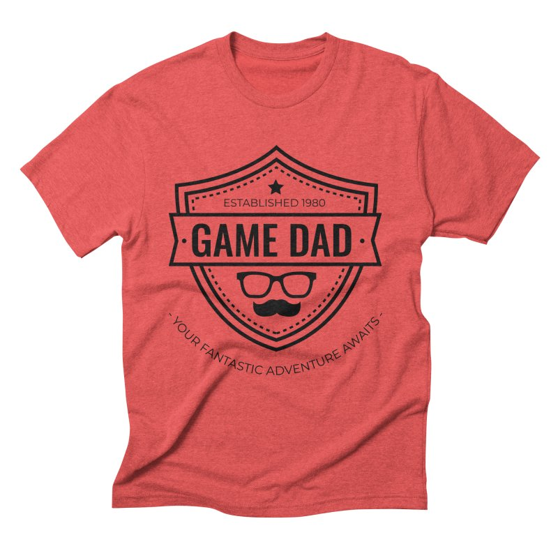 Game Dad - Black Men's Triblend T-Shirt by fantasticworldspod's Artist Shop