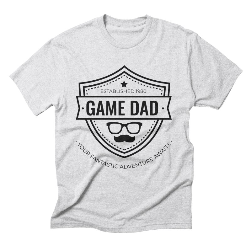 Game Dad - Black Men's Triblend T-Shirt by fantastic worlds pod's Artist Shop