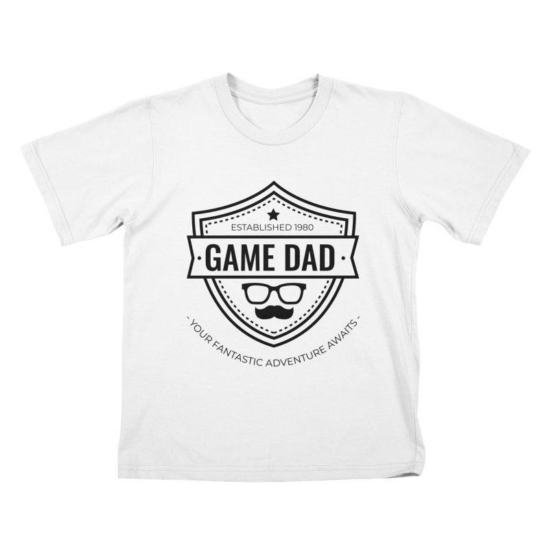 Game Dad - Black Kids T-Shirt by fantastic worlds pod's Artist Shop