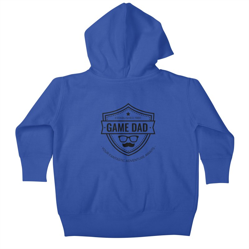Game Dad - Black Kids Baby Zip-Up Hoody by fantasticworldspod's Artist Shop