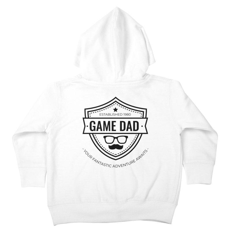 Game Dad - Black Kids Toddler Zip-Up Hoody by fantastic worlds pod's Artist Shop