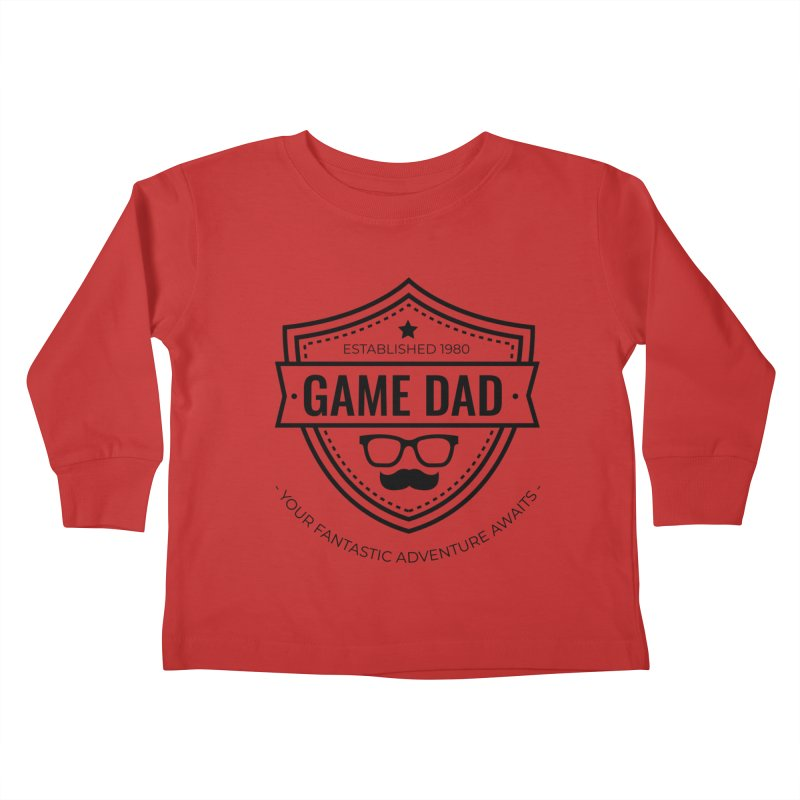 Game Dad - Black Kids Toddler Longsleeve T-Shirt by fantastic worlds pod's Artist Shop