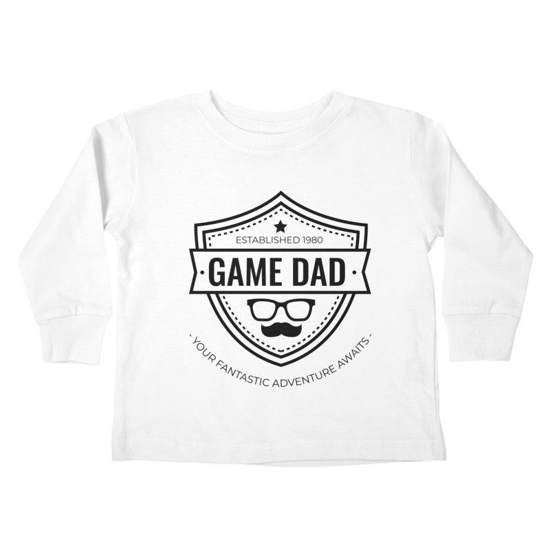 Game Dad - Black Kids Toddler Longsleeve T-Shirt by fantasticworldspod's Artist Shop