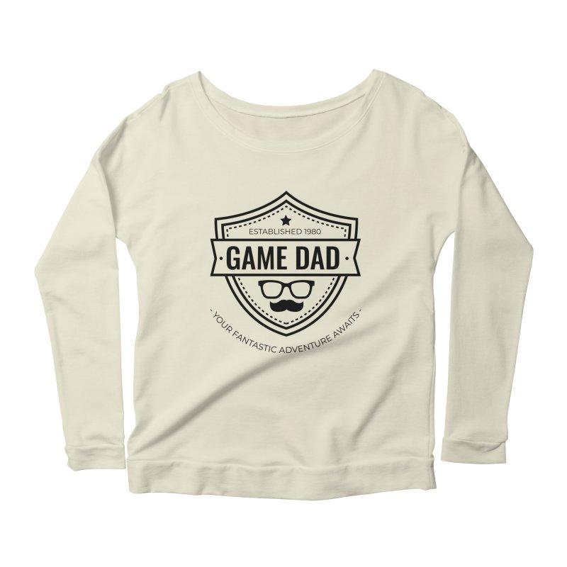 Game Dad - Black Women's Scoop Neck Longsleeve T-Shirt by fantastic worlds pod's Artist Shop