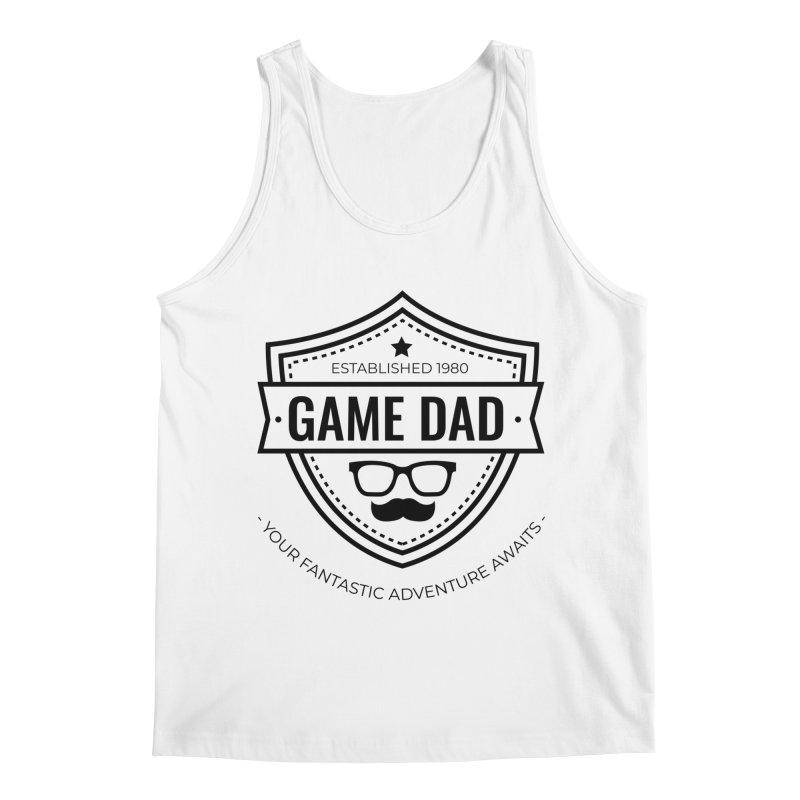 Game Dad - Black Men's Regular Tank by fantastic worlds pod's Artist Shop